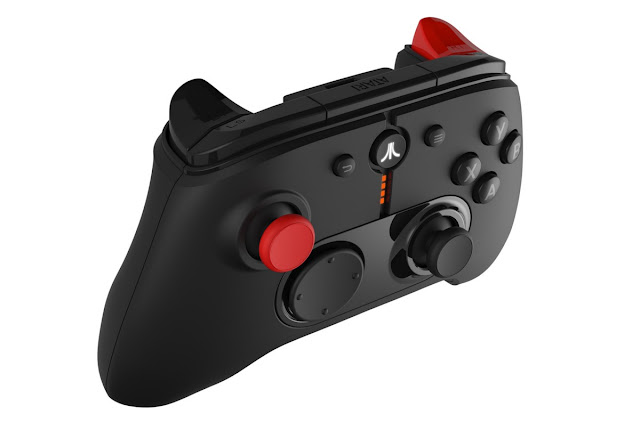 Modelo moderno do joystick do novo console Atari CVS