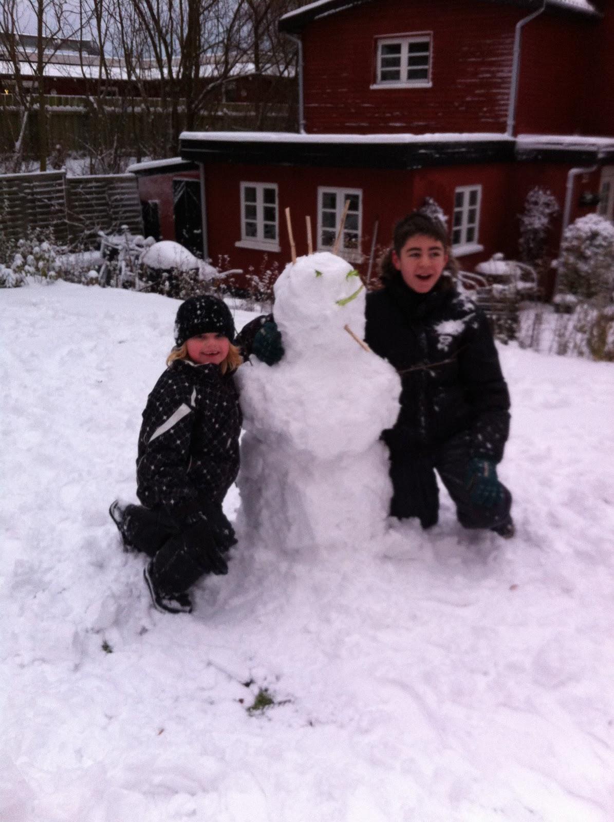 Sinding strik: sne,sne og hygge