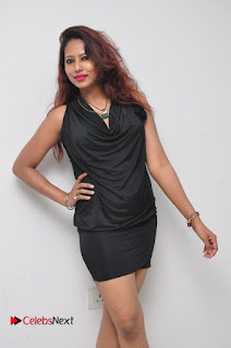 Model Sonia Pictures in Black Dress at Yes Mart Event  0014