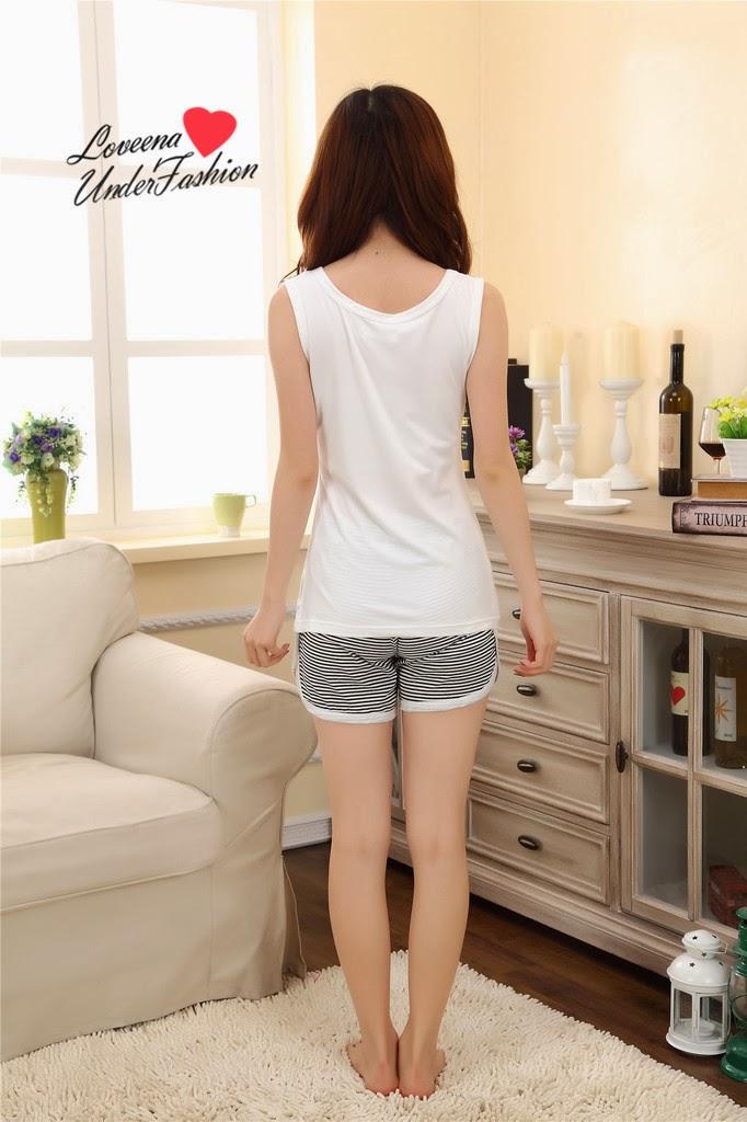 Korea Cute Panda Strip Sleepwear Pyjamas Pajamas Nightwear P0201