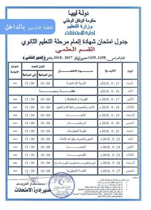 رابط موقع منظومة الامتحانات الليبية للنتائج imtihanat.com