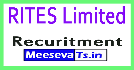 RITES Limited Recruitment Notification