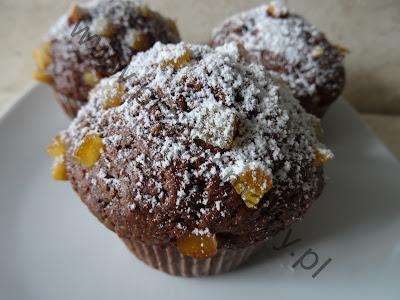Muffinki czekoladowe ze skórką pomaranczową