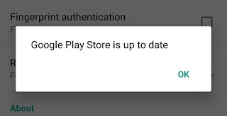 Play Store is up to date