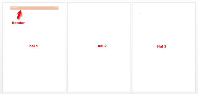 menghilangkan header di halaman tertentu di ms word