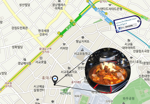 首爾美食 | 附地址!弘大。邪惡壓力芝士泡菜鍋,米紙包三層肉超好吃 | Patc 遊泡菜國