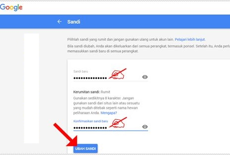 Ganti Password Login Akun Google