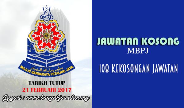Jawatan Kosong Terkini 2017 di Majlis Bandaraya Petaling Jaya (MBPJ)