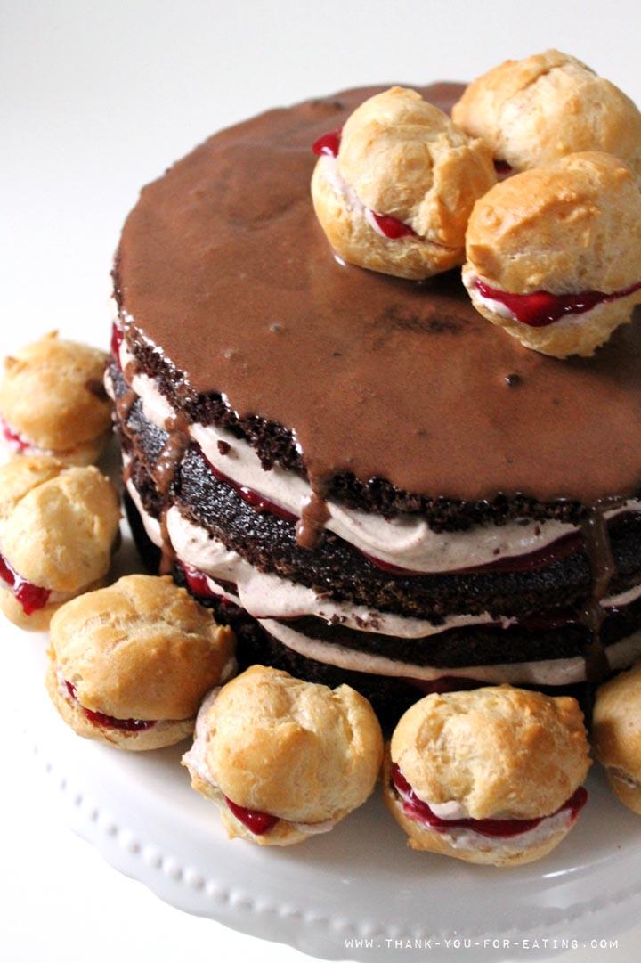 Rezept für eine Schoko-Himbeer-Torte