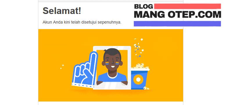 Spesifikasi Blog Mang Otep saat Daftar diterima