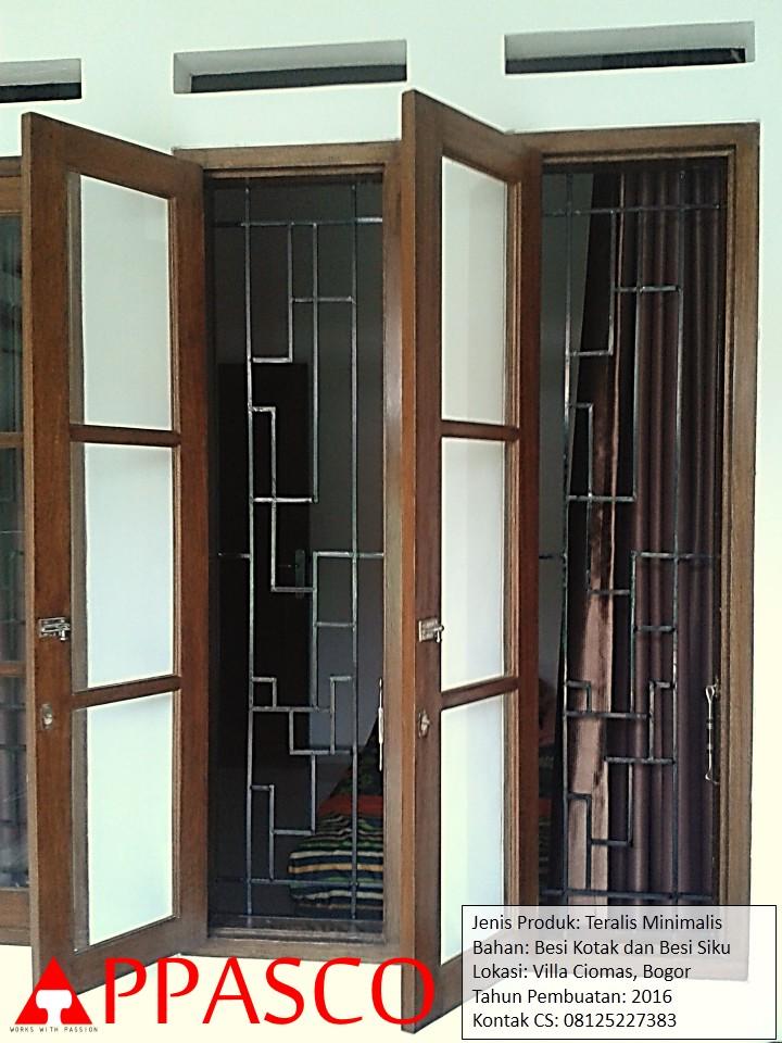 Teralis Minimalis di Villa Ciomas Bogor