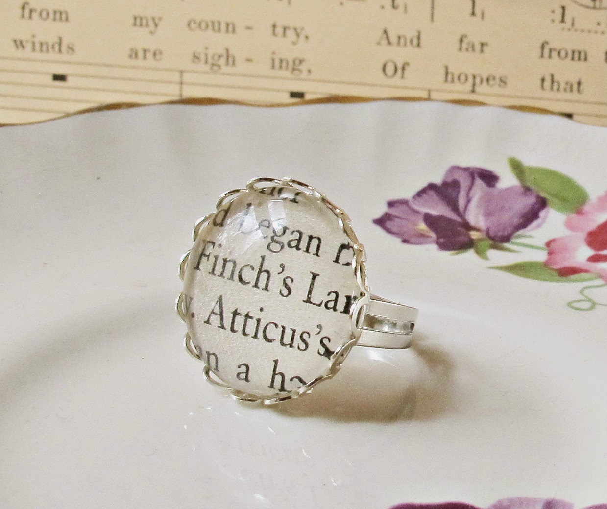 image atticus finch cocktail ring to kill a mockingbird harper lee two cheeky monkeys jewellery