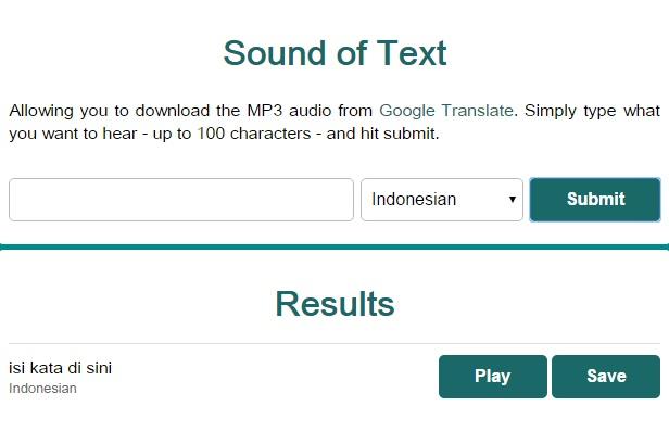 Google Translate Dengan Suara