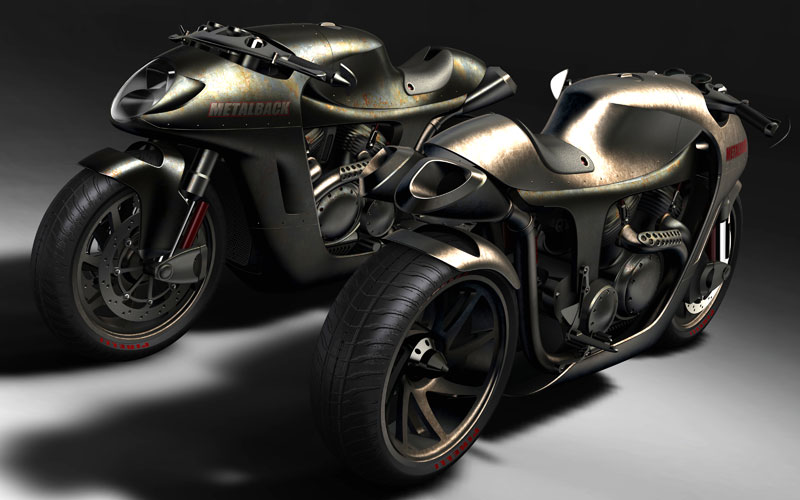 concept aluminum cafe racer - way2speed