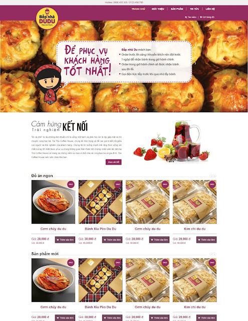 Theme blogger bán đồ ăn nhanh
