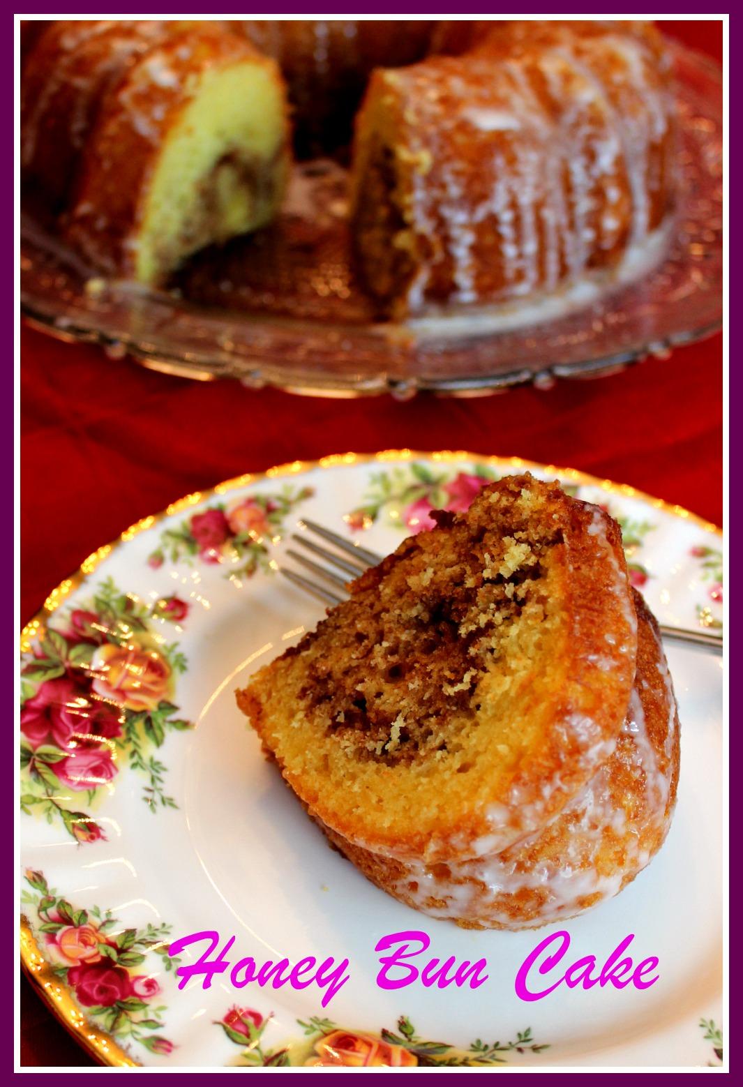 Honey Bun Cake In A Bundt Pan