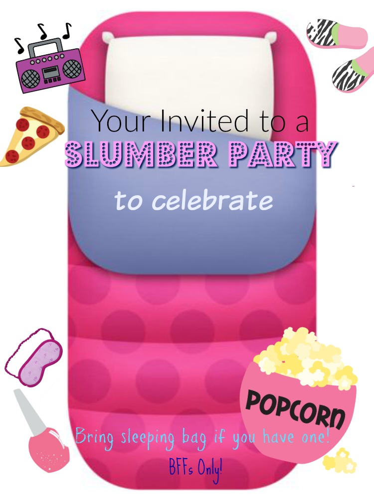 Girls Slumber Party Ideas and Printable Invitation - A Pretty ...