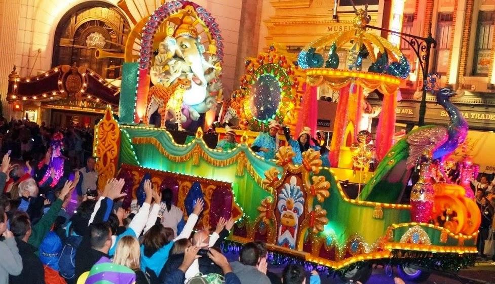 Festa Mardi Gras no Universal Studios em Orlando