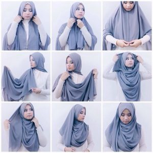 Tutorial Hijab Segi Empat Mode Modern Jaman Now