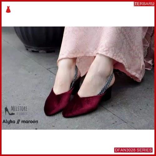 DFAN3028S103 Sepatu Tm07 Hak Tahu Wanita Sol Karet BMGShop