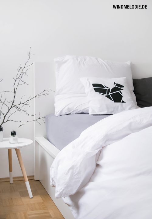 Skandinavisch Einrichtung Schlafzimmer Dekoration Schwarz Weiß