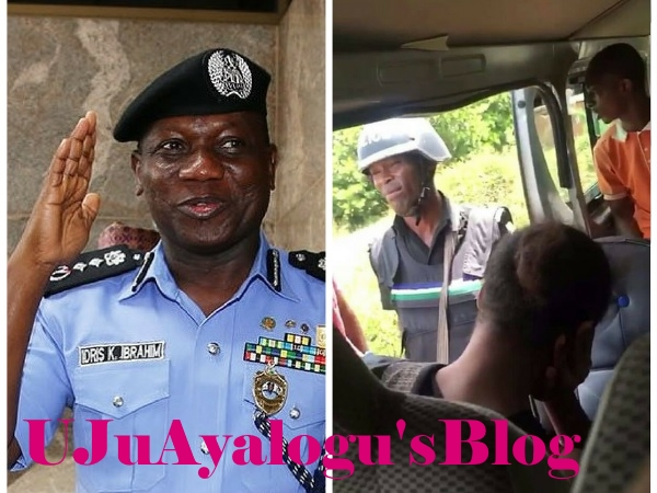 Watch Video..HOODLUMS in National UNIFORM: POLICE Officer Harasses AND Threatens to SHOOT Passengers at CHECKPOINT for not showing LAPTOP RECEIPT