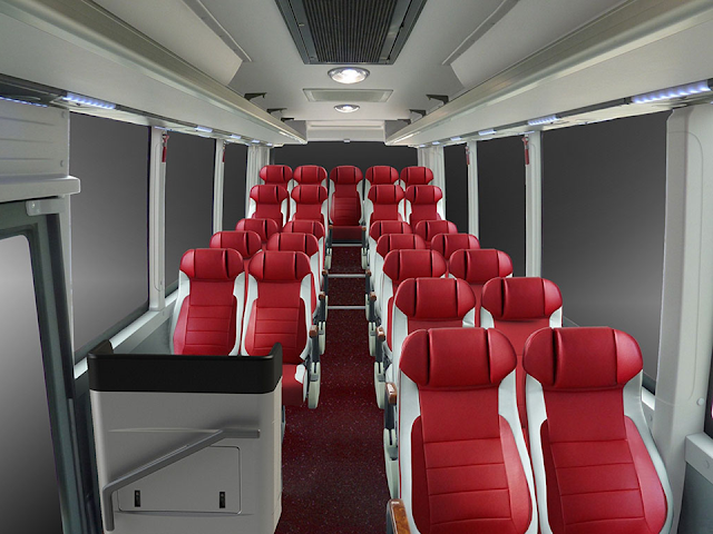 Ghế hành khách 34 chỗ Samco Felix bọc da cao cấp