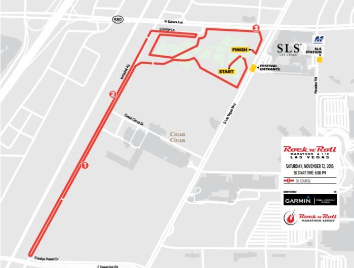Runhikeplay Rock'n'roll Las Vegas 5k Race Recap: Las Vegas Half Marathon Course Map At Infoasik.co