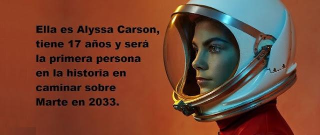 Alyssa Carson será la primera en pisar Marte en un verdadero ejemplo de feminismo