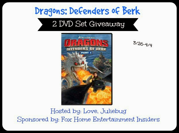 Enter the Dragons: Defenders of Berk Part 1 Giveaway. Ends 4/4.