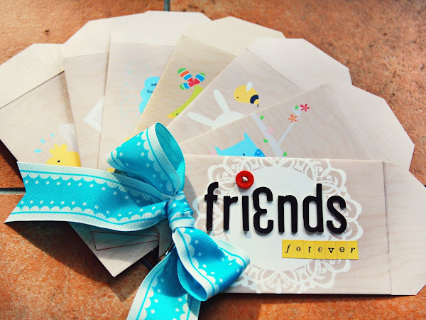 Friends Forever Hybrid Digital Envelope Album for Spring