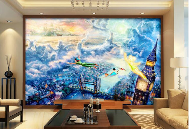 Fairy Murals Wallpaper Peter Pan Fairy Tale