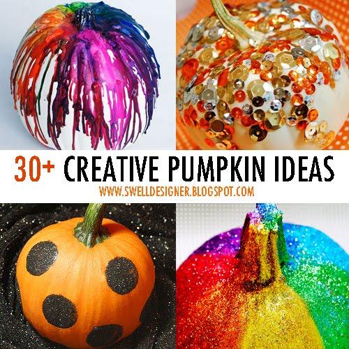 sc 1 st  The Swell Designer & 30+ Swell u0026 Fun Pumpkin Decorating Ideas