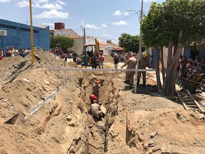 No Sertão da Paraíba, trabalhador morre soterrado em obra