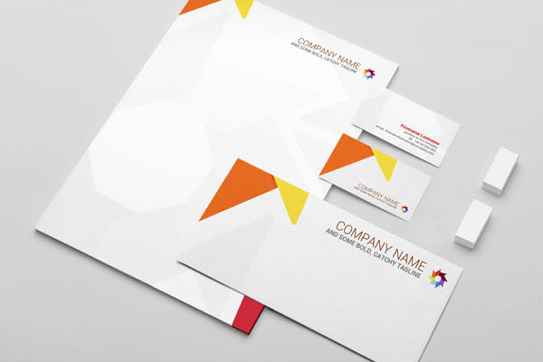 Stationery Mock-Up Template