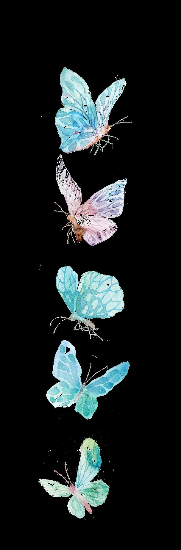 render Mariposas azules