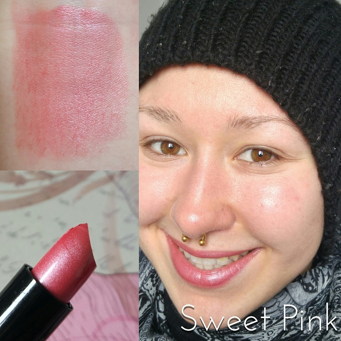 Les rouges à lèvres Max & More Lipstick Swatch Sweet Pink