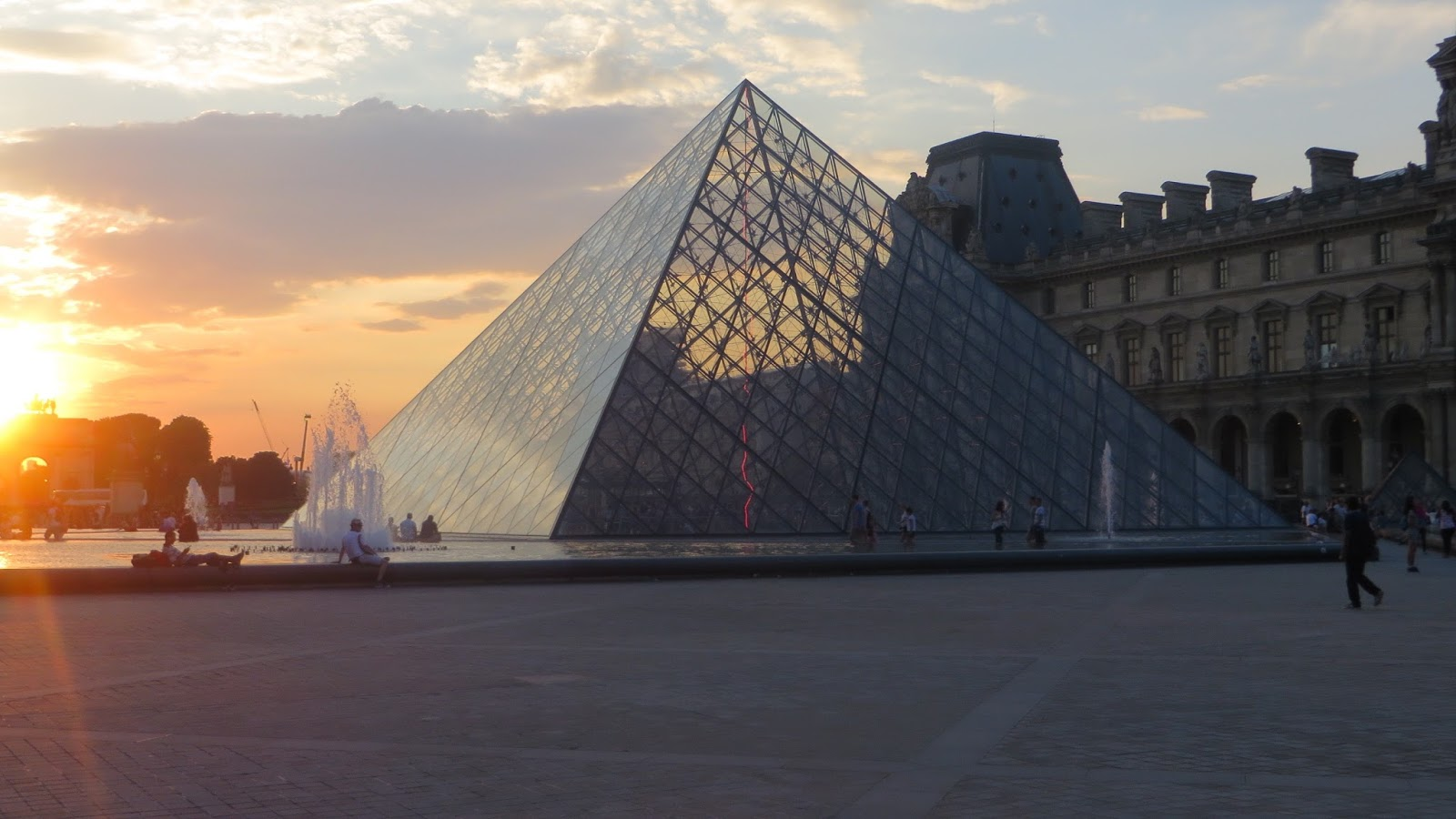 Glass Pyramid Entrance of the Louvre