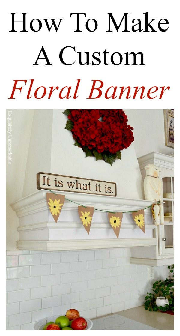 How To Make A Custom Floral Banner