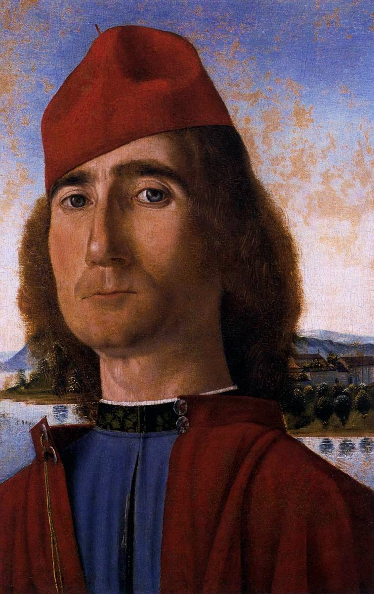 Vittorio Carpaccio, Self Portrait, Portraits of Painters, Fine arts, Painter Vittorio Carpaccio