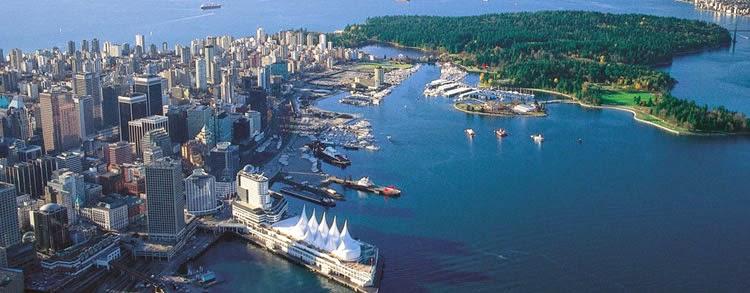 Panorámica de la ciudad de Vancouver, Canada
