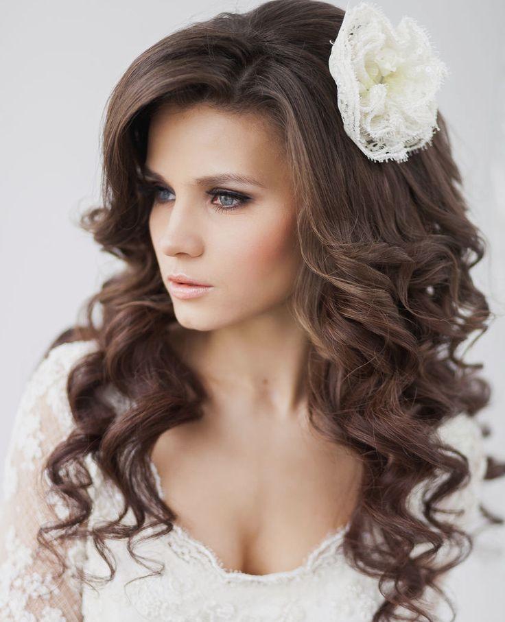 Sorprendentemente fácil peinados para bodas pelo suelto Fotos de los cortes de pelo de las tendencias - La moda en tu cabello: Peinados con pelo suelto para ...