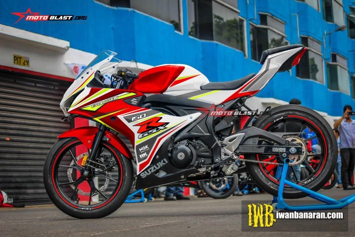 Koleksi 62 Modifikasi Motor Gsx R150 Warna Merah Terkeren Cermin
