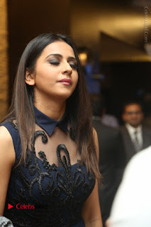 Actress Rakul Preet Singh Stills in Beautiful Blue Long Dress at Dhruva Salute to Audience Event  0009.JPG