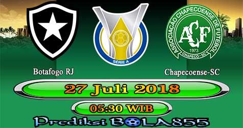 Prediksi Bola855 Botafogo RJ vs Chapecoense-SC 27 Juli 2018