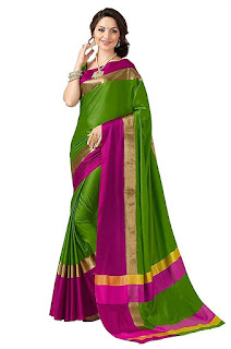 buy indian beauty women's art silk saree