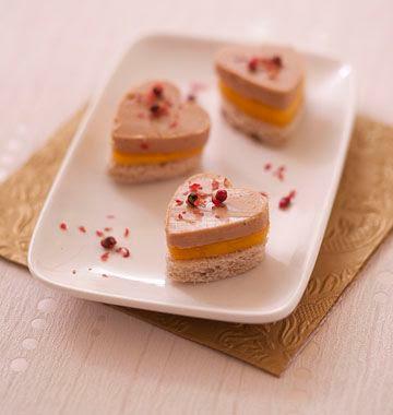Toast au foie gras et mangue
