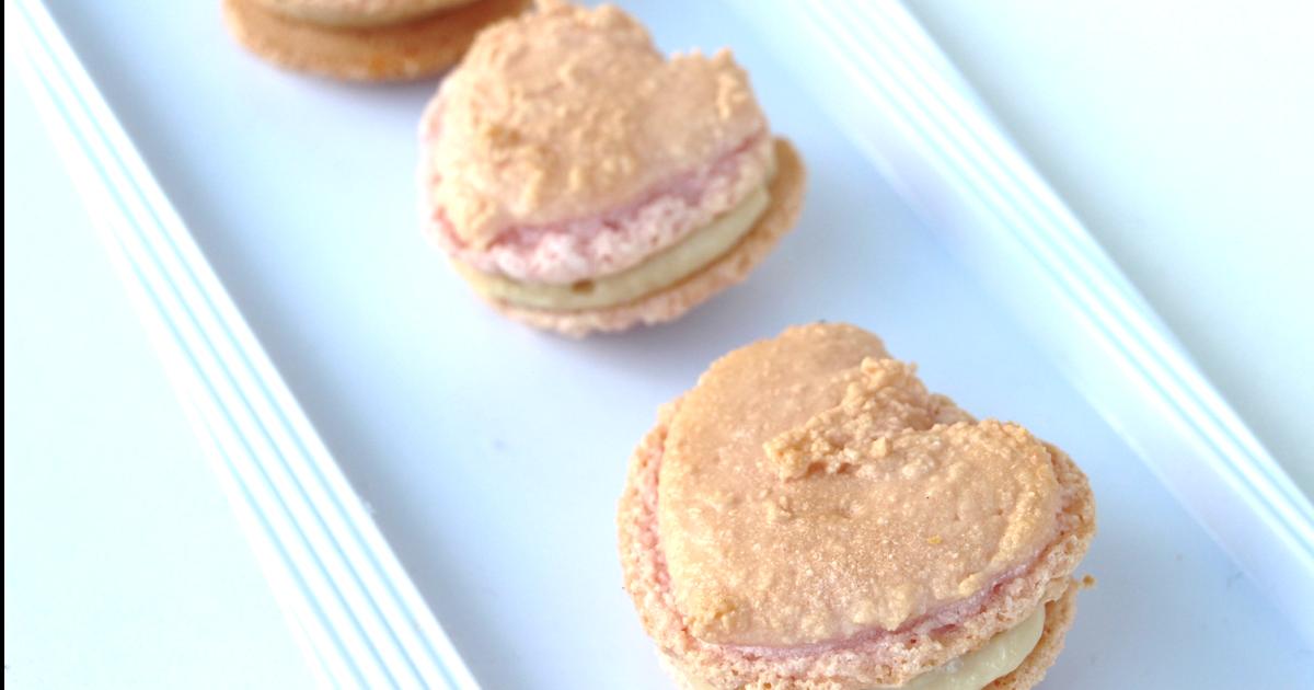 Flo en cuisine macarons pour la saint valentin for Tamiser cuisine