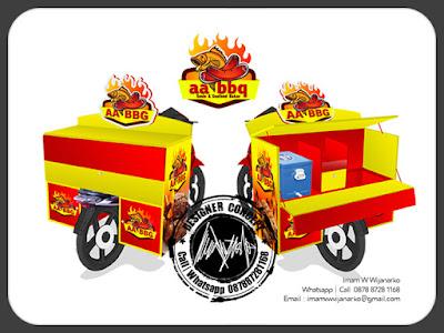 produksi gerobak motor sosis bakar