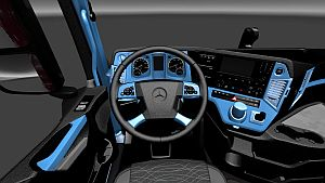Black and Blue skin interior for Mercedes MP4